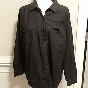 Old Navy Black Denim shirt